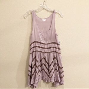 NWT Free people Voile and Lace Trapeze Slip